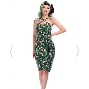 Collectif Tropical Sarong Dress UK12